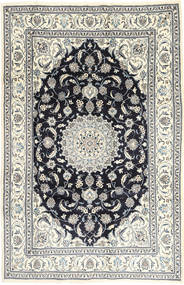 Nain Tæppe 201X314 Ægte Orientalsk Håndknyttet Lysegrå/Mørkegrå (Uld, Persien/Iran)