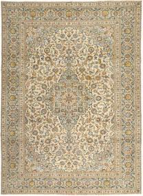 Keshan Patina Tæppe 272X365 Ægte Orientalsk Håndknyttet Lysebrun/Mørk Beige Stort (Uld, Persien/Iran)