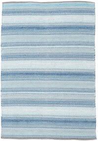 Wilma - Blå Tæppe 120X180 Ægte Moderne Håndvævet Lyseblå/Beige (Bomuld, Indien)