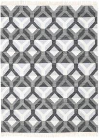 Aino Tæppe 140X200 Ægte Moderne Håndvævet Mørkegrå/Beige/Lysegrå (Uld/Bambus Silke, Indien)