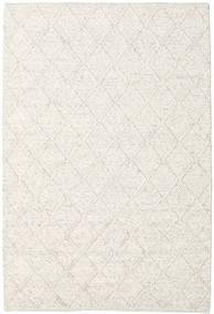 Rut - Isgrå Melange Tæppe 160X230 Ægte Moderne Håndvævet Lysegrå/Beige/Hvid/Creme (Uld, Indien)