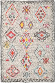 Fatima - Multi Tæppe 200X300 Ægte Moderne Håndvævet Lysegrå/Beige (Uld, Indien)