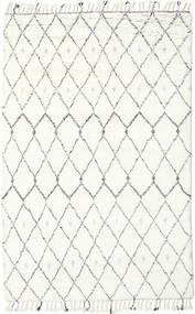 Sauda - Natural Grå Tæppe 200X300 Ægte Moderne Håndknyttet Beige/Hvid/Creme (Uld, Indien)
