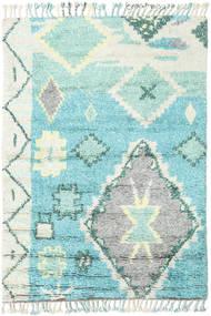 Odda - Turquoise Tæppe 160X230 Ægte Moderne Håndknyttet Lysegrå/Turkis Blå (Uld, Indien)