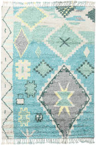 Odda - Turquoise Tæppe 200X300 Ægte Moderne Håndknyttet Beige/Turkis Blå (Uld, Indien)