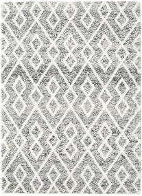 Hudson - Melange Sort Tæppe 170X240 Moderne Lysegrå/Beige (Uld, Indien)