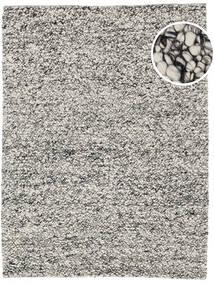 Bubbles - Melange Grå Tæppe 250X350 Moderne Lysegrå/Turkis Blå Stort (Uld, Indien)