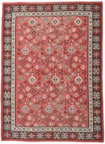 Kelim Russisk Tæppe 230X312 Ægte Orientalsk Håndvævet Rust/Mørkerød (Uld, Azarbaijan/Rusland)