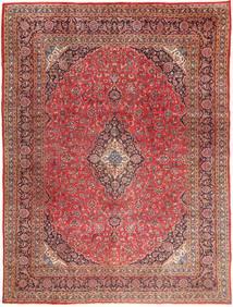 Mashad Tæppe 295X390 Ægte Orientalsk Håndknyttet Mørkerød/Lysebrun Stort (Uld, Persien/Iran)