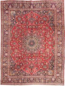 Mashad Tæppe 285X375 Ægte Orientalsk Håndknyttet Mørkerød/Lyserød Stort (Uld, Persien/Iran)