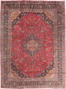 Mashad Tæppe 295X395 Ægte Orientalsk Håndknyttet Mørkerød/Brun Stort (Uld, Persien/Iran)