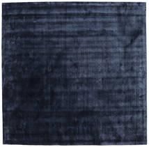 Brooklyn - Midnatsblå Tæppe 250X250 Moderne Kvadratisk Mørkeblå/Blå Stort ( Indien)