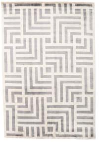 Maze Tæppe 170X240 Ægte Moderne Håndknyttet Lysegrå/Beige ( Indien)