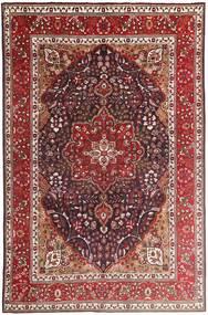 Tabriz Tæppe 207X315 Ægte Orientalsk Håndknyttet Mørkerød/Mørkebrun (Uld, Persien/Iran)