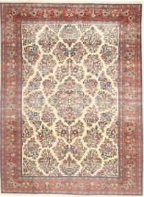 Sarough Patina Tæppe 200X280 Ægte Orientalsk Håndknyttet Gul/Mørkebrun (Uld, Persien/Iran)