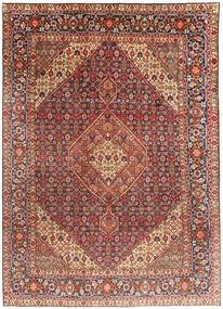 Tabriz Tæppe 203X291 Ægte Orientalsk Håndknyttet Mørkerød/Lysebrun (Uld, Persien/Iran)