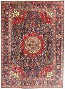 Tabriz Tæppe 212X292 Ægte Orientalsk Håndknyttet Mørkerød/Mørkebrun (Uld, Persien/Iran)