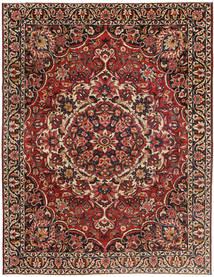 Bakhtiar Patina Tæppe 267X360 Ægte Orientalsk Håndknyttet Mørkerød/Mørkebrun Stort (Uld, Persien/Iran)
