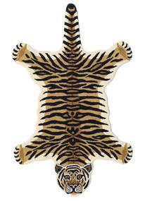 Tiger - Beige Tæppe 100X160 Moderne Mørkeblå/Lysebrun (Uld, Indien)
