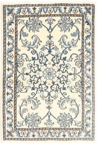 Nain Tæppe 60X90 Ægte Orientalsk Håndknyttet Beige/Lysegrå (Uld, Persien/Iran)
