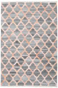 Kathi - Grå/Coral Tæppe 200X300 Ægte Moderne Håndvævet Lysegrå/Mørkegrå/Lyserød ( Indien)