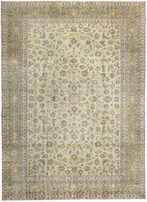 Keshan Patina Tæppe 293X405 Ægte Orientalsk Håndknyttet Lysegrå/Mørk Beige/Olivengrøn Stort (Uld, Persien/Iran)