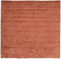 Soho Soft - Terracotta Tæppe 250X250 Moderne Kvadratisk Rød Stort (Uld, Indien)