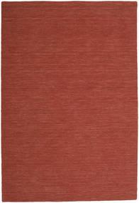 Kelim Loom - Rust Tæppe 200X300 Ægte Moderne Håndvævet Mørkerød (Uld, Indien)