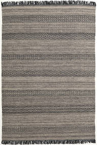 Hedda - Brun Tæppe 160X230 Ægte Moderne Håndvævet Mørkegrå/Lysegrå (Uld, Indien)