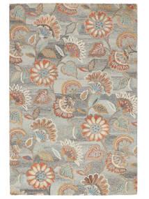 Rusty Flowers - Grå/Rust Tæppe 200X300 Moderne Lysegrå/Mørk Beige (Uld, Indien)