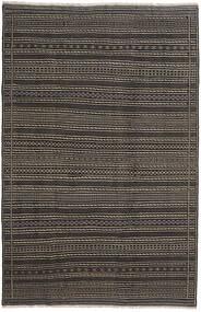 Kelim Persia Tæppe 200X300 Ægte Orientalsk Håndvævet Mørkegrå/Sort (Uld, Persien/Iran)