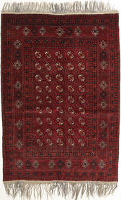 Afghan Khal Mohammadi Tæppe 132X182 Ægte Orientalsk Håndknyttet Mørkerød/Lysegrå (Uld, Afghanistan)