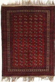 Afghan Khal Mohammadi Tæppe 134X180 Ægte Orientalsk Håndknyttet Mørkerød (Uld, Afghanistan)