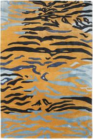 Love Tiger - Orange/Grå Tæppe 200X300 Moderne Lysebrun/Sort ( Indien)