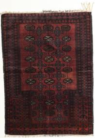 Afghan Khal Mohammadi Tæppe 95X129 Ægte Orientalsk Håndknyttet Mørkebrun/Mørkerød (Uld, Afghanistan)