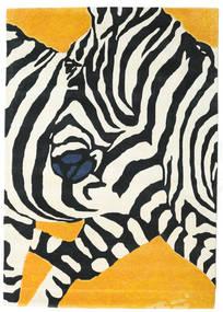 Zebra - 2018 Tæppe 160X230 Moderne Beige/Sort (Uld, Indien)