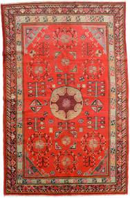 Samarkand Vintage Tæppe 161X250 Ægte Orientalsk Håndknyttet Rust/Mørkerød (Uld, Kina)