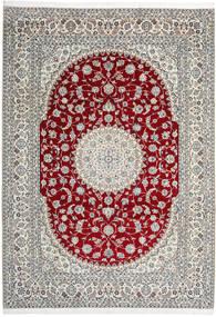 Nain 9La Tæppe 246X345 Ægte Orientalsk Håndknyttet Lysegrå/Beige (Uld/Silke, Persien/Iran)