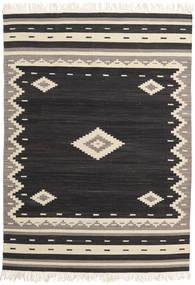 Tribal - Sort Tæppe 160X230 Ægte Moderne Håndvævet Sort/Beige (Uld, Indien)