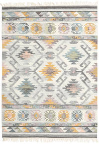 Mirza Tæppe 160X230 Ægte Moderne Håndvævet Lysegrå/Beige (Uld, Indien)