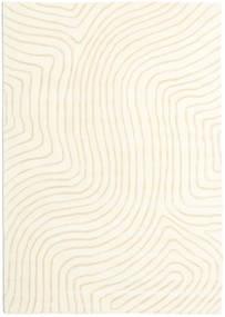 Woodyland - Beige Tæppe 160X230 Moderne Beige/Hvid/Creme (Uld, Indien)