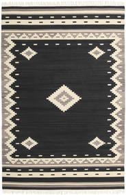 Tribal - Sort Tæppe 200X300 Ægte Moderne Håndvævet Sort/Beige (Uld, Indien)