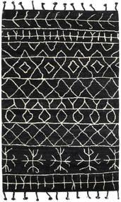 Moss Berber - Sort Tæppe 180X275 Ægte Moderne Håndknyttet Sort (Uld, Indien)
