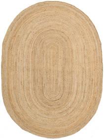 Frida Oval - Natural Tæppe 160X230 Ægte Moderne Håndvævet Mørk Beige/Beige ( Indien)