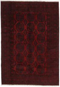 Afghan Tæppe 199X282 Ægte Orientalsk Håndknyttet Mørkerød (Uld, Afghanistan)