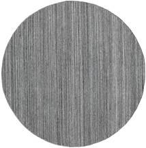 Udendørs Tæppe Petra - Dark_Mix Tæppe Ø 200 Ægte Moderne Håndvævet Rundt Lysegrå/Mørkegrå/Blå ( Indien)
