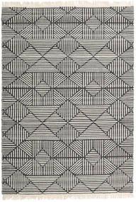 Mauri Tæppe 160X230 Ægte Moderne Håndvævet Mørkegrå/Lysegrå/Mørk Beige (Uld, Indien)