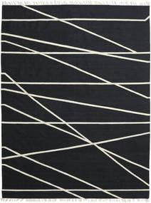 Cross Lines - Sort/Råhvid Tæppe 200X300 Ægte Moderne Håndvævet Sort (Uld, Indien)
