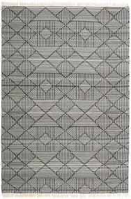 Mauri Tæppe 200X300 Ægte Moderne Håndvævet Mørkegrå/Lysegrå (Uld, Indien)