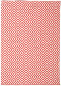 Torun - Coral/Neutral Tæppe 140X200 Ægte Moderne Håndvævet Rød/Lyserød (Bomuld, Indien)